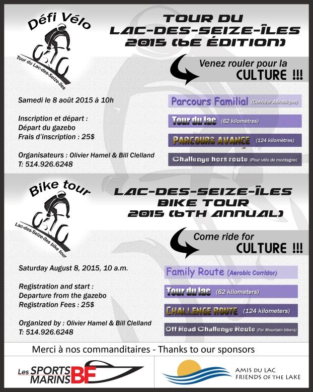 Tour du lac poster 2015